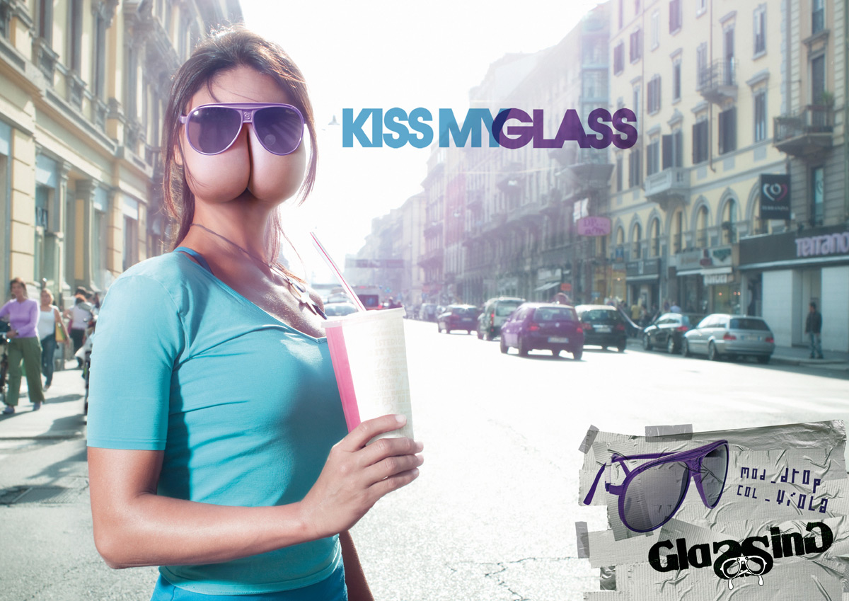 kiss my glass advertising 2 - Gute Werbung Beispiele